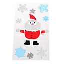ieftine Decorațiuni-Moș Crăciun fulg de nea de usi / ferestre / perete autocolante decoratiuni de Craciun