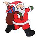 povoljno Kompleti svjetala-Djed Mraz vrata / prozor / zidne naljepnice božićnih ukrasa