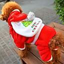 رخيصةأون شاحن مع كابل-كلب المعاطف بابا نويل الشتاء ملابس الكلاب أحمر عيد الميلاد كوستيوم القطبية ابتزاز XXS XS S M L