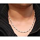 ieftine Coliere-Lănțișoare femei Teak Oțel titan Argintiu Coliere Bijuterii 1 buc Pentru Nuntă Petrecere Zilnic Casual