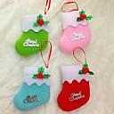 povoljno LED svjetla u traci-10cm božićne čarape za božićni party dekoracija 6pcs
