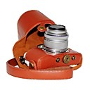 ieftine Carcase, Genți & Curele-dengpin® piele PU caz litchi aparat de fotografiat model pentru stilou e-olympus PL7 cu 17mm / 14-42mm lentile
