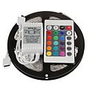 ieftine Machiaj Halloween-Zdm 5m 300 x 2835 benzi led 8mm rgb flexibile și telecomandă ir 24key conectabile auto-adezive care schimbă culoarea