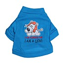 ieftine Imbracaminte & Accesorii Căței-Pisici Câine Tricou Îmbrăcăminte Câini Respirabil Albastru Costume Bumbac Desene Animate Literă & Număr XS S M L