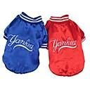 رخيصةأون أساور-قط كلب المعاطف الشتاء ملابس الكلاب أحمر أزرق كوستيوم قطن S M L XL