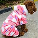 povoljno LED svjetla u traci-Mačka Pas Hoodies Zima Odjeća za psa Pink Kostim Flis Cosplay Vjenčanje S M L XL XXL