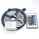 ieftine Benzi Lumină LED-Benzi flexibile cu led 5m / seturi de lumini / lumini cu bandă rgb 300 leduri 5050 smd 10mm telecomanda rgb / rc / cuttable / dimmable 12 v / linkable / autoadeziv / schimbătoare de culori / ip44