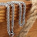 ieftine Coliere-Lănțișoare Foxtail lanț Dookie lanț Mariner Chain Balaur Design Unic Modă Oțel titan Coliere Bijuterii 1 buc Pentru Cadouri de Crăciun Nuntă Petrecere Cadou Zilnic Casual