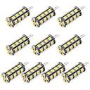 povoljno Antistres igračke-10 kom. LED svjetla s dvije iglice 352 lm G4 30 LED zrnca SMD 5050 Toplo bijelo Hladno bijelo 12 V / RoHs