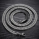 cheap Men's Necklaces-Men's Chain Necklace Foxtail chain Mariner Chain Titanium Steel A B C Necklace Jewelry For Christmas Gifts Wedding Party Daily Casual Sports