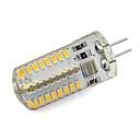 رخيصةأون تزيين المنزل-1PC 4 W أضواء LED Bi Pin 260 lm G4 64 الخرز LED SMD 3014 أبيض دافئ أبيض كول 220-240 V / بنفايات