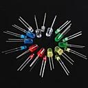 ieftine Componente DIY-Lumina 100buc emitting diode led3mm verde roșu 5mm alb albastru galben