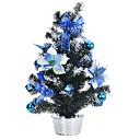 povoljno Muški satovi-Tablica ukras plastike cvijeće božićno drvce - plava + zelena