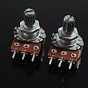 رخيصةأون الترانزستورات-3-دبوس الجهد التحكم في مستوى الصوت b20k لالغيتار / باس (2 قطعة)
