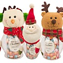 cheap Gifts-Handicraft Santa Claus Snowman Candy Jar Christmas Gift(1 pcs)