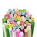 ieftine Artă Ștrasuri Colorate-50buc model floare 3d băț de trestie de zahăr tijă autocolant de mixs unghii de culoare decorare artă
