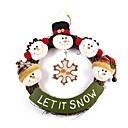 ieftine Decorațiuni-rafinat ușă manual de Crăciun om de zăpadă inel de rattan agățat Crăciun decorare coroană de flori