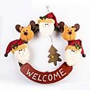 ieftine Decorațiuni-rafinat manual Crăciun Moș ușă inel de rattan agățat Crăciun decorare coroană de flori