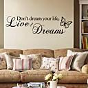ieftine Acțibilde de Decorațiuni-Cuvinte & Citate Perete Postituri Autocolante perete plane Autocolante de Perete Decorative, PVC Pagina de decorare de perete Decal Perete