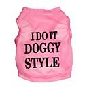 voordelige Galaxy Tab 3 10.1 Hoesjes / covers-Kat Hond T-shirt Hondenkleding Roze Kostuum Textiel Binnenwerk Letter & Nummer XS S M L