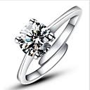 ieftine Carcase iPhone-Pentru femei Inel de declarație Inel de logodna inel de înfășurare Argintiu Plastic Diamante Artificiale Montaj de Patru femei Clasic Modă Nuntă Petrecere Bijuterii Solitaire Rundă simulat Iubire