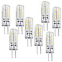 ieftine Becuri LED Bi-pin-8pcs 1 W Becuri LED Corn 100-120 lm G4 T 24 LED-uri de margele SMD 3014 Intensitate Luminoasă Reglabilă Alb Cald 12 V