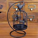 رخيصةأون Home Fragrances-النمط الأوروبي قفص العصافير السوداء الرجعية حامل شمعة