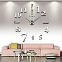 رخيصةأون ديكورات خشب-فرملس ساعة الحائط الكبيرة ديي ، الحديث 3d ساعة الحائط مع الأرقام مرآة ملصقات للمنزل مكتب ديكورات هدية