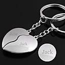ieftine Breloage-Personalizate gravate cadou o pereche de inimă în formă Lover keychain