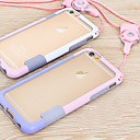 voordelige Galaxy J5(2017) Hoesjes / covers-hoesje Voor Apple iPhone 6s Plus / iPhone 6s / iPhone 6 Plus Bumper Effen Zacht TPU