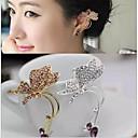 ieftine Cercei-Pentru femei Diamant sintetic Cătușe pentru urechi Fluture Animal femei Ștras cercei Bijuterii Auriu / Argintiu Pentru Nuntă Petrecere Zilnic Casual