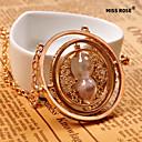 رخيصةأون ساعات النساء-نسائي قلائد الحلي الساعة الرملية سيدات سبيكة ذهبي قلادة مجوهرات من أجل مناسب للبس اليومي