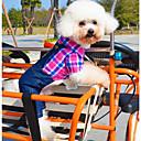 ieftine Spoturi LED-Câine Costume Salopete Iarnă Îmbrăcăminte Câini Verde Trandafiriu Costume Bumbac Blugi Cosplay Casul / Zilnic XS S M L XL
