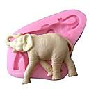رخيصةأون أدوات الفرن-3D سيليكون قالب الكعكة فندان الحيوان العفن تزيين قالب سيليكون الفيل لكعكة الشوكولاته السكر SAOP