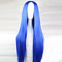 ieftine Breloc-Peruci de Cosplay Peruci Sintetice Drept Drept Frizură Asimetrică Perucă Lung Albastru Deschis Păr Sintetic 28 inch Pentru femei Linia naturală de păr Albastru