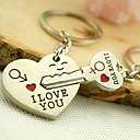 رخيصةأون سلاسل المفاتيح-سلسلة المفاتيح الأحباء حب خواتم مجوهرات فضي من أجل مناسب للبس اليومي