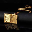 ieftine Inele-Pentru femei Coliere cu Pandativ Coliere Colier femei Modă 18K Placat cu Aur Articole de ceramică Placat Auriu Coliere Bijuterii Pentru Nuntă