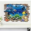 رخيصةأون ملصقات ديكور-حيوانات 3D ملصقات الحائط لواصق لواصق حائط مزخرفة, الفينيل تصميم ديكور المنزل جدار مائي جدار