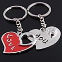 povoljno Privjesci za ključeve-unisex legure povremeni privjesak u obliku srca za Valentinovo privjesci 1 par