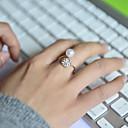 ieftine Inele-Pentru femei Band Ring Cristal Argintiu Perle Ștras Diamante Artificiale femei Lux Nuntă Petrecere Bijuterii Ieftin Ajustabil / Aliaj