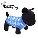 رخيصةأون حافظات / جرابات هواتف جالكسي S-قط كلب T-skjorte ملابس الكلاب متنفس أحمر أزرق كوستيوم قطن Plaid / Check XS S M L