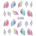1 pcs 3D Nail Stickers Water Transfer Sticker nail art Manicure Pedicure Lovely Cartoon / Fashion Daily