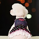 billige Hundetøj og tilbehør-Hund Kjoler Hundetøj Blå Kostume Bomuld Prikker Jeans Cosplay XS S M L XL