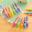 ieftine Instrumente Scris & Desen-Markeri & Evidențiatoare Stilou Evidențiatoate Stilou, Plastic Roșu Albastru Galben Mov Portocaliu Verde Culori de cerneală For Rechizite