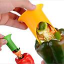 رخيصةأون أدوات الفاكهة & الخضراوات-الفلفل الفلفل الحار بيل jalapeno أخذ البذور المزيل الأخضر الفلفل الفلفل القاطع أخذ العينات الجوفية القطاعة الفاكهة مقشرة لون عشوائي