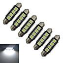 رخيصةأون قيود ساعات-jiawen 6 قطع 1.5w 80-90 lm ضوء السيارة ضوء القراءة ضوء الديكور 4 المصابيح smd 5050 12v الباردة الأبيض العاصمة