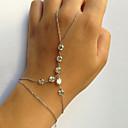 ieftine Bijuterii de Corp-Pentru femei Ring Bracelets Sclavii de aur Plin de graţie femei Design Unic Modă Bijuterii brățară Auriu / Argintiu Pentru Petrecere Cadou aleasă a inimii Costume Cosplay