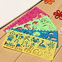ieftine Papetărie-riglă de desen ușor pentru copii (culori aleatorii)