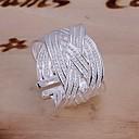 ieftine Inele-Pentru femei Inel de declarație degetul mare Argintiu Argilă femei Neobijnuit Design Unic Nuntă Petrecere Bijuterii