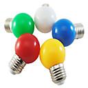 رخيصةأون مصابيح ليد مبتكرة-5 قطع ملونة e27 1 واط إنقاذ 6 لمبات led مصباح العالم غلوب diy أبيض أخضر أصفر أزرق أحمر اللون مشرق ac220-240v